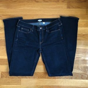J Crew Dark Wash Straight Leg Jeans